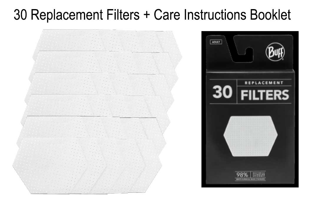 BUFF ADULT REPLACEMENT FILTERS 30 UNITS