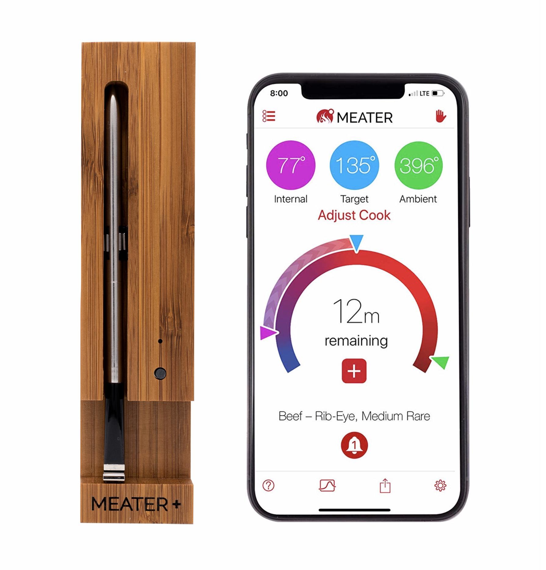 ApptionLabs Meater+ - Kabelloses und smartes Fleisch-Thermometer 50 Meter lange Reichweite - 1x Thermometer