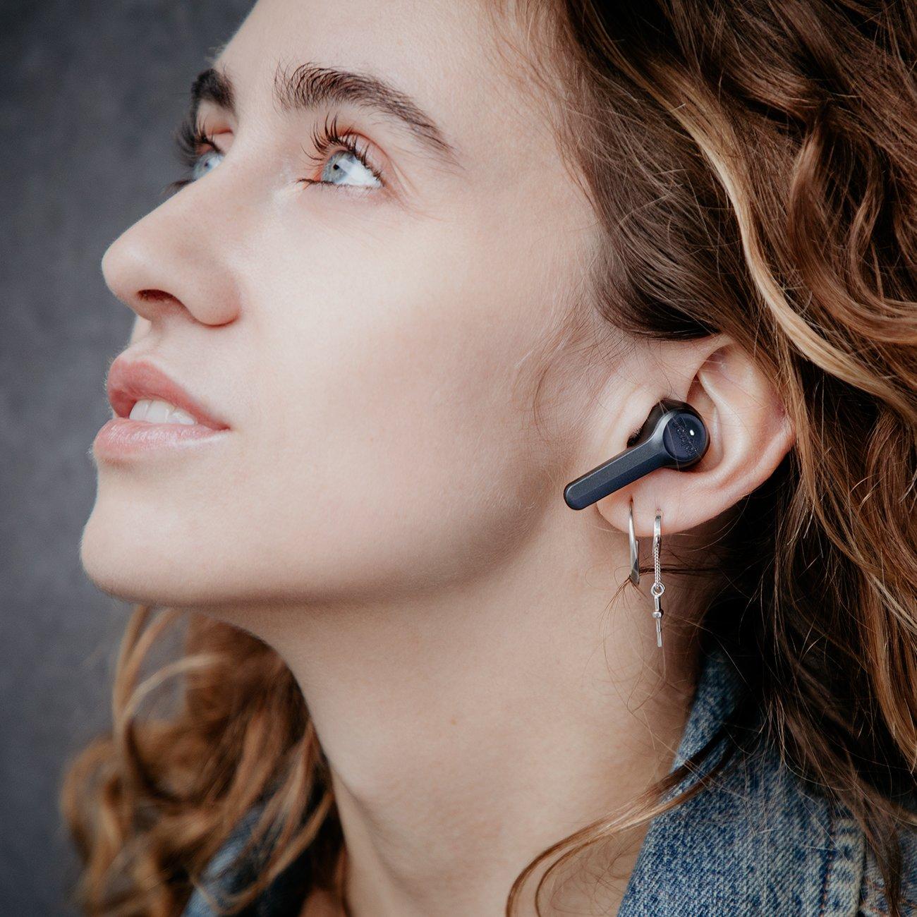 Teufel Airy True Wireless - True Wireless In-Ear Kopfhörer mit Bluetooth 5.0 & Smart Touch Steuerung - Schwarz