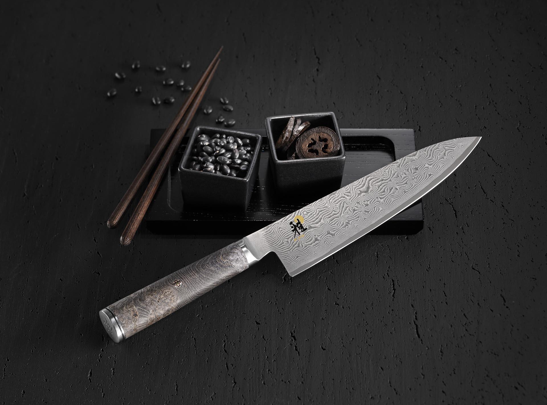 MIYABI 5000MCD 67 BLACK Gyutoh, Ahorn, 200 mm